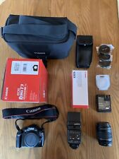 Canon EOS Rebel T3 12.2MP Digital SLR Camera - Black With Various Accessories