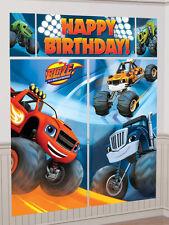 Blaze & the monster machines fête d'anniversaire géant scène setter bannière décoration