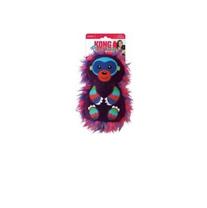 KONG Roughskinz Suedez Monkey for Dog Toy Unique construction, Squeaker