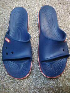 Crocs Crocband Slide Sandals Blue Red Womens 10 Mens 12
