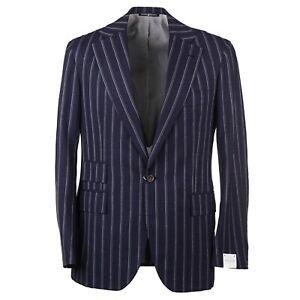 Orazio Luciano Modern-Fit Navy and White Stripe Crisp Wool Suit 38R (Eu 48)