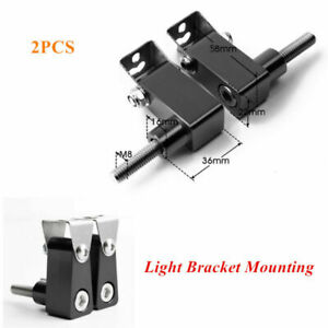 2x Motorcycle Head Fog LED Light Bracket Mounting Post Support Base Stability