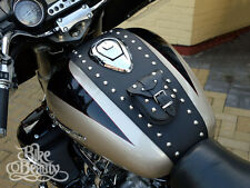 HONDA VALKYRIE F6C, GL 1500 C LEATHER TANK Pad Cover Panel Belt Chap Bra Bib