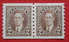 CLEARANCE: Canada (#239) 1937 King George VI coil pair