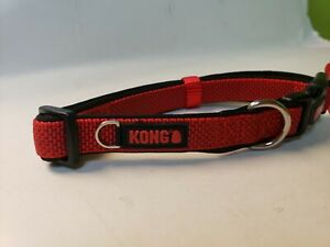 NEW WITH TAGS Kong Comfort , Dog Collar RED  Medium
