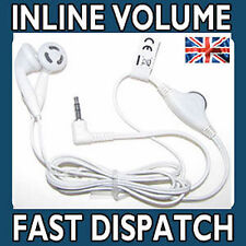 Earphones Headphones For SONY PSP & DS Lite Inline Volume Control WHITE (NEW)