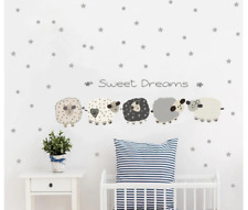 Sweet Dreams Fun Animal Sheep Color Wall Sticker For Baby Kids Rooms Decoration