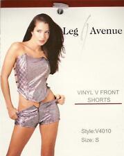 VARIOUS Sex y Hologram Vinyl V-Front Zipper Hot Pants / Booty Shorts - Clubwear