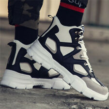 Mens Hiking Youth Basketball Shoes Sports Fashion Sneakers Lace Up White US8.5