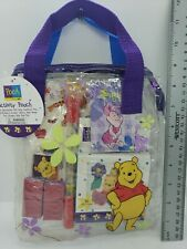 Disney Winnie the Pooh bag with Stationery Art Set - erasers stickers stamps vtg