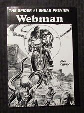 2001 WEBMAN #1 VF- The Spider Sneak Preview - Gene Colan - Argosy
