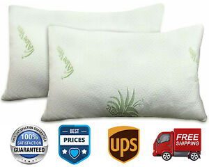 Pillow Protectors Cases 2 Pack Anti-Mite Zipped Entry 100% Polyester 50x75cm.