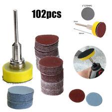 100pcs 25mm 80~3000 grit Sanding Disc Sanpaper Hook Loop Pads Sander Adapter