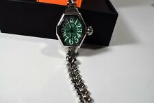Glam Rock Miami Beach Art Deco collection Silver Steel Bracelet Watch MBD27135