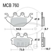 KYMCO MXU 500 4x4 IRS LOF DX Bj 2011-2013 - 34 PS-Plaquettes de frein TRW Lucas
