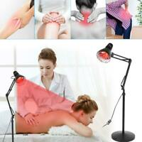 275W IR Infrared Red Heat Light Floor Stand Pain Relief Lamp Therapy Therapeutic