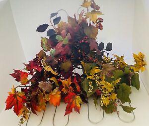 Fall Floral Casket Spray Saddle Swag Centerpiece Thanksgiving Front Door Decor
