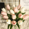 Beautiful Artificial Real Touch Tulip Stems White/Pink/Black Bunch of 10