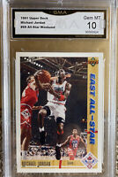 1991 Upper Deck Michael Jordan Card Gem Mint 10 Chicago Bulls HOF All Star
