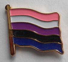 Genderfluid Pride Flag Enamel Pin Badge