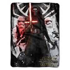 "Star Wars The Force Awakens First Order Super Plush Soft Throw Blanket 46""x60''"