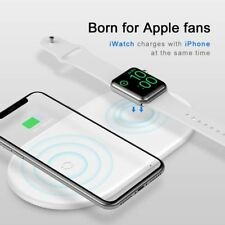 BASEUS Double 2 in 1 Smart Qi Wireless Fast Charge Pad for iPhone Apple Watch