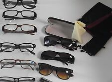 CLOSEOUT LOT 5 PACK READING GLASSES 4 Soft Cases 1 Hard Case MEN +1.00 MRS54747
