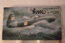 "USSR Yak-15, Yak-17 ""Feather"", 1/72 EAKU Vacuform kit, Airplane Model Kit"