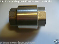 "1/2"" INLINE CHECK VALVE FxF NPT SOLID BRASS LOW PRESSURE FOR INLETS TANKS"