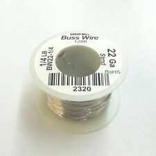 NEW 22 Gauge Tinned Copper Bus Wire, 1/4 Pound Roll (128' Approx. Length) 22AWG