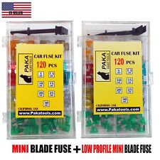 2 pack ( 120pc MINI Blade + 120 pc low profile)FUSE Assortment + REMOVAL TOOL