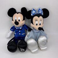 "Disneyland 60th Anniversary Mickey & Minnie Mouse Plush Diamond Celebration 19"""