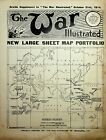 October 1914 The War Illustrated's War Map of Western Europe Geographia