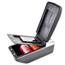 Armrest Box PU Center Black Storage Case+Drink Cup Holder Fit CX-3 2015-2018