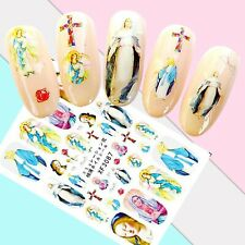 Nail Art Stickers Transfers 3D Self Adhesive Christian Mary Cross (XF3087)