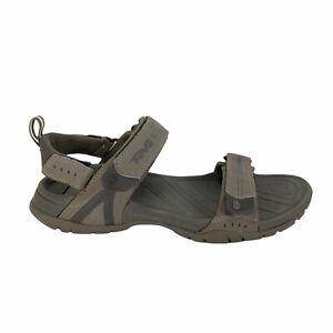 Teva Dryden Sports Hiking Sandals Mens Size 10 Gray Shoc Pad 3 Strap