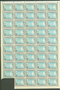 RAB484 1963 MNH Paraguay Sheet 49v Refugee /0.25/ High CV