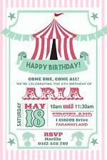 Carnival Invitation BIG TOP CIRCUS Digital File Birthday Party Invite