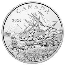 CANADA 2014 $15 FINE SILVER COIN EXPLORING CANADA - THE ARCTIC EXPEDITION