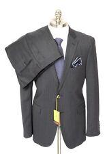 Men's ETRO Gray Striped All Season Wool Slim 2Btn Flat Front Suit 54 6R 44 R NWT
