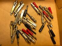 """Lot of 29 Vintage 1/4"""" Plugs & Jacks 1950s-1970s for Microphones Guitar Cables"""