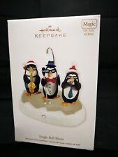 Hallmark Ornament 2011 Jingle Bell Blues Magic Light and sound Penguins Nib Mib