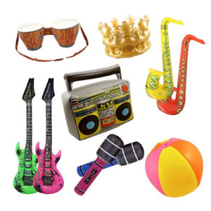 Infatables Pack of 10 Assortment -Party Decoration Prop Music Neon EUROVISION