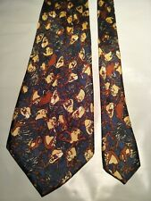 Men's Tie Featuring The Tassie Devil in an Abstract Pattern by Davenport