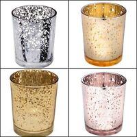 Mercury Speckle Glass Tealight / Votive Candle Holders, Wedding, Table Decor