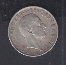 1937 Albania. 1 FR.AR. Silver coin 5 gr Rare.  See the Picture.     N 7
