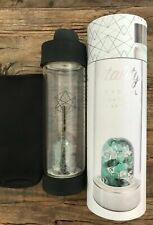 LIFESTYLE PRODUCTS VITALITY CRYSTAL GLASS WATER BOTTLE 16.9 OZ NEW
