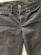 J Crew Women's Pants Size 26 Gray Toothpick Skinny Ankle Corduroy