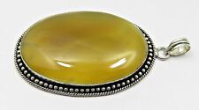 37.9 Grams Natural Chalcedony Gemstone 925 Silver Plated Jewelry Pendant