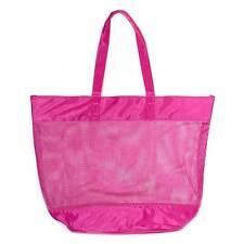 Chloe Narcisse Large Pink Plastic Mesh String Shoulder Bag Beach Shopper/tote